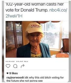"""honestly old ppl shouldn't be allowed to vote, it sounds mean and ageist but we are the generation that's effected, and most of them are racist/sexist/homophobic because they were """"born in a different time"""" like kys what's that supposed to mean ? Funny As Hell, Funny Cute, Hilarious, Funny Facts, Funny Memes, Jokes, Laugh Till You Cry, Good Comebacks, Wtf Moments"""