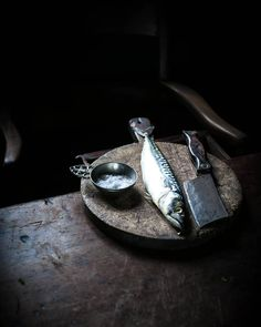 """105 Likes, 18 Comments - Ros (@her_dark_materials) on Instagram: """"That mackerel again. I was utterly mesmerised by the silvery tones. The cat, however, was going…"""""""