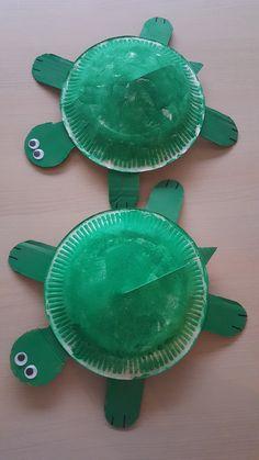 schildpad van karton bordje