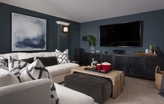 Before & After | Media Room | Cozy | Graphic Patterns | Abstract Art