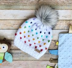 Your place to buy and sell all things handmade Easy Knitting Projects, Crochet Projects, Crochet Baby, Knit Crochet, Knitting Patterns, Crochet Patterns, Kids Winter Hats, Chunky Yarn, Knit Beanie