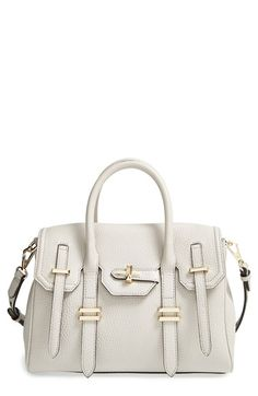 Free shipping and returns on Rebecca Minkoff 'Mini Jules' Satchel at Nordstrom.com. Leather straps and gleaming buckles compose a stylish façade on a sumptuous pebbled-leather satchel with an easy-access snap-flap closure. Wear it on your arm to inspired maximum handbag envy, or sling it over your shoulder for a more laid-back vibe.