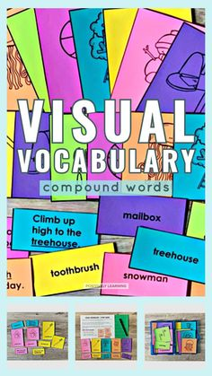Add these Compound Words Visual Vocabulary sets to your small groups, literacy centers, performance assessments, and focus walls.