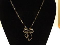 Bow Necklace by KelsysCharm on Etsy, $12.00