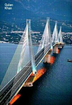 Wonderful photography of the beautiful The Rio-Antirrio Bridge Patras, Greece