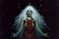 Dicen que las brujas festejan la aparición del primer cabello blanco porque a partir de ese momento se convierten en expertas reflejadoras de rayos de luna... No hay mejor destello para la cabeza de una hembra- luz plateada, iridiscente movida por el suspiro del viento...