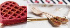 Decorate + Celebrate: Rote Herz-Waffeln
