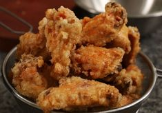 Crispy and crunchy fried chicken Dakgangjeong 닭강정 Garlic Fried Chicken, Crispy Chicken Recipes, Korean Fried Chicken, Fried Chicken Wings, Shredded Chicken Recipes, Chicken Wing Recipes, Asian Chicken, Maangchi Recipes, Deep Fried Recipes