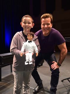 11-year-old James, who has medulloblastoma, wished to meet and hang out with comedian Jeff Dunham. (cc: Make-A-Wish Orange County and the Inland Empire)