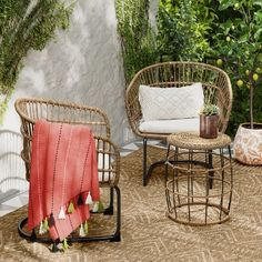 Combining the timeless feel of wicker furniture, with the stability of metal frames, the Southport Wicker Motion Patio Chat Set from Opalhouse™ is. Wicker Patio Furniture, Wood Patio, Patio Dining, Patio Chairs, Outdoor Furniture Sets, Outdoor Decor, Furniture Ideas, Furniture Online, Metal Furniture