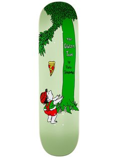 Pizza Skateboards The Gluten Tree Skateboard Deck Painted Skateboard, Skateboard Deck Art, Skateboard Design, Skateboard Girl, Beginner Skateboard, Longboard Design, Snowboard Girl, Skate Art, Cool Skateboards