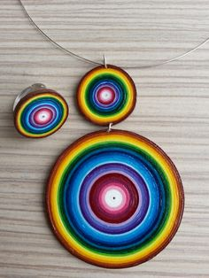 Jewelry Quilling Paper Quilling Earrings, Quilling Jewelry, Paper Jewelry, Paper Beads, Diy Quilling Crafts, Quilling Art, Recycled Crafts, Diy And Crafts, Paper Crafts