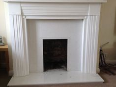 White fire surround with mantel | Alloa, Clackmannanshire | Gumtree