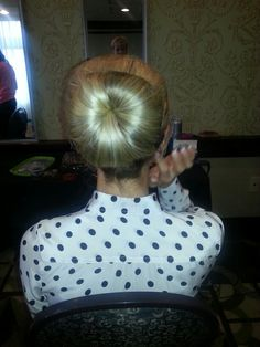 Bridal hair bun. There is NO sock in this!