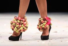 heels topped with macarons. WANT.