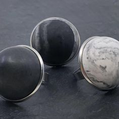 Craft Studio Stockholm designs and handcrafts these extraordinary and unique size adjustable 'Ädel' rings, using sustainably sourced concrete and stainless steel. Available at norditude.