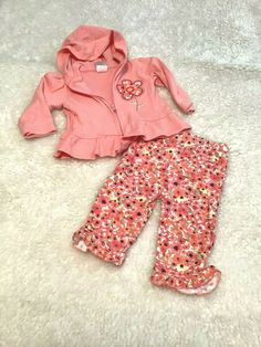 Boys 2pc Summer Outfits Tommy Hilfiger 3-6M Faded Glory 18M
