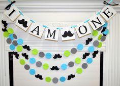 Yo soy un sistema banner y garland banner de cumpleaños