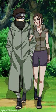 Aburame Shino and Inuzuka Hana