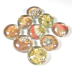 Marble Magnets or Push Pins Set  Wild Flowers on by sideproject, $7.25