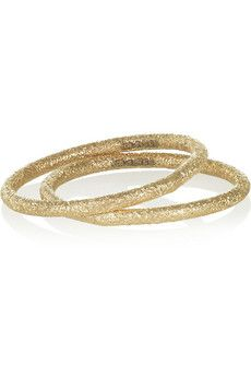 Carolina Bucci Set of two 18-karat gold rings | NET-A-PORTER