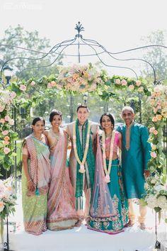 Garden wedding arch for a Hindu ceremony! ENCHANTED GARDEN WEDDING IN TORONTO www.elegantwedding.ca