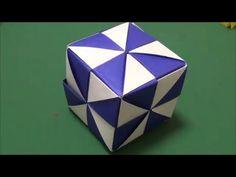 """「ミラーキューブ」折り紙""""Mirror cube""""origami - YouTube Origami Cube, Modular Origami, Diy Origami, Origami Paper, Diy And Crafts, Paper Crafts, Envelope Box, Oragami, 3d Paper"""