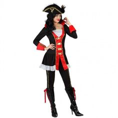 Disfraz de Capitana Pirata lujo