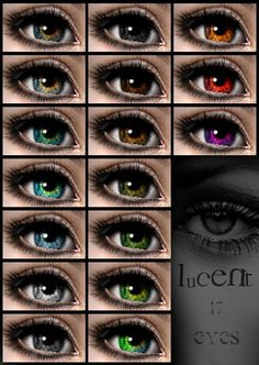 """ModTheSims - Bailelizabeth's """"Lucent Eyes"""" as Contacts"""
