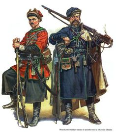 Cossack musketeers from the Zaporozhian Host during the Khmelnytsky Uprising of 1648-1657.