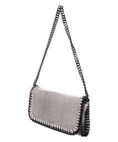 Gray Snake-Embossed Chain Strap Leather Crossbody Bag #zulily #zulilyfinds