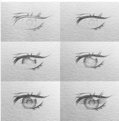 Anime Drawings Sketches, Realistic Drawings, Anime Sketch, Manga Drawing Tutorials, Drawing Techniques, Art Tutorials, Anime Eyes, Eye Art, Art Sketchbook