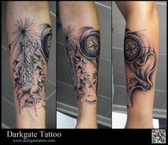 Compass Map tattoo
