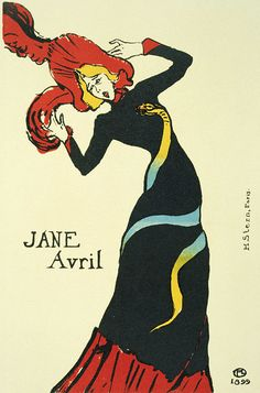 Jane Avril Toulouse Lautrec Vintage French Poster Wall Art giclee reproduction print on fine paper that will not fade. Available in different sizes, unframed or framed in black matte wood frame. Custom sizes available. Made in USA by Museum Outlets Vintage French Posters, French Vintage, Henri De Toulouse-lautrec, Art Nouveau, Mid Century Modern Art, Unique Wall Art, Caravaggio, Art Challenge, French Art