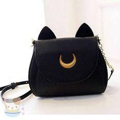 Sailor Moon Luna/Artemis Designer Handbag / Shoulder Bag [2 Colors] #JU1816-Juku Store-Luna-Juku Store