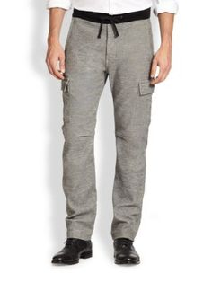 7 For All Mankind Knit Melange Cargo Pants   Clothing