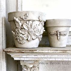 Orchard Design, Iron Orchid Designs, Mineral Paint, Paper Clay, Terracotta Pots, Diy Clay, Clay Pots, Flower Pots, Planter Pots