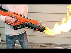 Someone made a Lego flamethrower that actually shoots fire and it's amazing
