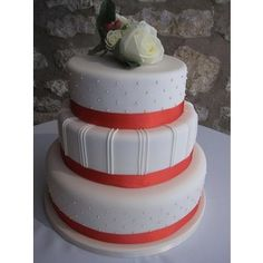 coral and blue wedding cake - Google Search