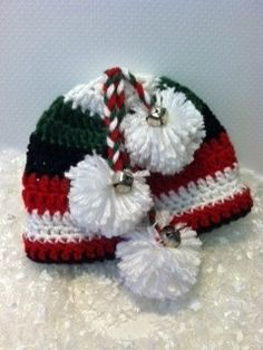 FREE SHIPPING Jingle Bells Hat Christmas Baby by SuziCute on Etsy, $22.50
