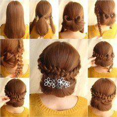 How to DIY Elegant Braids and Chignon Hairstyle | iCreativeIdeas.com Like Us on Facebook == https://www.facebook.com/icreativeideas