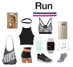 """""""Run"""" by marieamalieholm on Polyvore featuring NIKE, bkr, Lane Bryant, Happy Plugs and ASOS"""