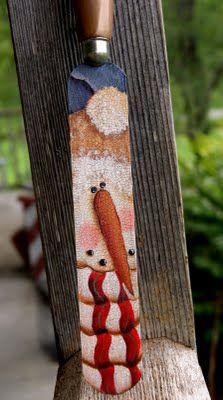 LOVE this handpainted snowman!!!