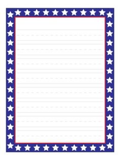 Patriotic writing paper — fun paper is a great incentive for student writing