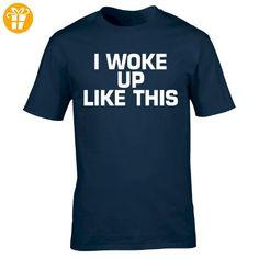 Fonfella Slogans Herren T-Shirt, Slogan Blau Navy Größe L - Shirts mit spruch (*Partner-Link)