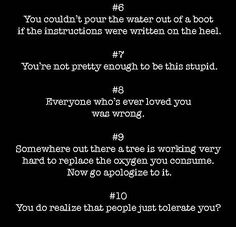 40 Insults To Use On Your Enemies - Imgur Witty Insults, Funny Insults And Comebacks, Best Insults, Funny Comebacks, Amazing Comebacks, Savage Comebacks, Writing Promps, Book Writing Tips, Sarcastic Quotes