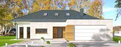 DOM.PL™ - Projekt domu DPS Madera 4 CE - DOM DPS1-34 - gotowy koszt budowy Dom, Garage Doors, Outdoor Decor, Home Decor, Wood, Homemade Home Decor, Decoration Home, Interior Decorating
