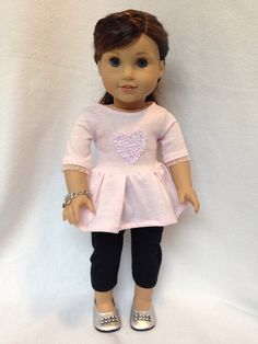 Hey, I found this really awesome Etsy listing at https://www.etsy.com/listing/221807354/pale-pink-peplum-top-for-18-dolls-fits