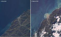 Artvin'deki felaket uydudan böyle görüldü - GÜNCEL Haberleri