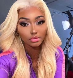 Shela Hair b/Blonde Colorful Full Lace Wig Straight/Body Wave Weave Hairstyles, Straight Hairstyles, Mommy Hairstyles, Curly Hair Styles, Natural Hair Styles, Natural Looking Wigs, 100 Human Hair Wigs, Black Wig, Lace Hair